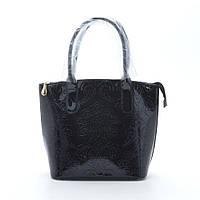 Женская сумка 68702/68718 цветок черная