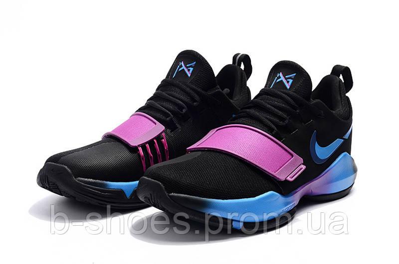 Детские баскетбольные кроссовки Nike Zoom PG 1 (Bright Black)