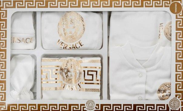 Подарочный набор для новорожденного Versace ,7 предметов.