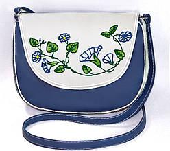 """Сумочка """"Monika"""" 33 синяя с цветами"""