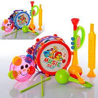 Музыкальные инструменты 2019A барабан16см, дудка2шт, маракасы, 2цвета, в кульке, 25-30-10см (BOC086403)