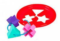 Логическое кольцо красное развивающая игрушка сортер 5 элементов Тигрес (39165-1)
