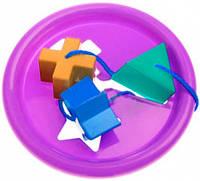 Логическое кольцо фиолетовое развивающая игрушка сортер 5 элементов Тигрес (39165-8)