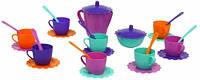 Ромашка набор посуды с розовым чайником 28 предметов в сумке Тигрес (39129-2)