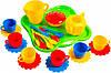 Ромашка набор посуды с салатовым подносом 24 предмета Тигрес (39156-1)