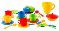Ромашка набор посуды с желтым чайником 28 предметов в коробке Тигрес (39131-1)