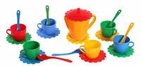 Ромашка Люкс набор посуды 21 предмет желтый чайник Тигрес (39087-1)