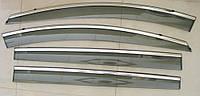 Mazda 5 2013+ ветровики дефлекторы окон ASP с молдингом нержавеющей стали / sunvisors