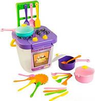 Ромашка набор игрушечной посуды столовый с фиолетовой плитой 25 элементов Тигрес (39153-2)