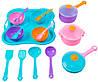 Ромашка набор столовой посуды 19 предметов с розовой кастрюлей Тигрес (39146-2)