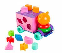Тигренок развивающая машинка сортер розово фиолетовая 21 элемент Тигрес (39177-1)