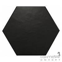 Плитка для ванной Equipe Керамогранит декор Equipe Hexatile Negro Mate 17.5x20 (шестигранник)