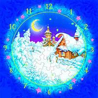 Часы Рождественская ночь Сборная модель из картона Умная бумага (126-12)