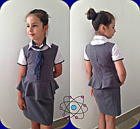 Сарафан школьный для девочек,  ткань тиар, размеры 134,140, 146, 152,158 см