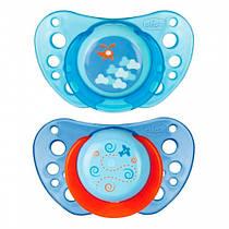 Пустышка Physio Air силиконовая с футляром от 6 до 12 месяцев 2шт голубая Chicco (75033.21)