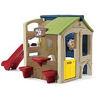 Игровой детский домик с горкой - Step2 - США - cо стеной препятствий