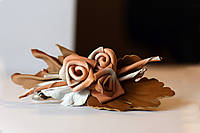 Заколка коричневые розы, фото 1
