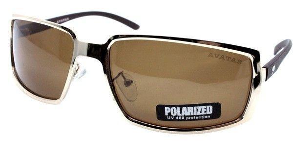 Мужские солнцезащитные очки Avatar Polaroid авиатор с поляризацией