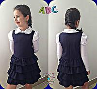 Сарафан школьный для девочек, ткань мадонна, размеры 116,122,128,134,140 см