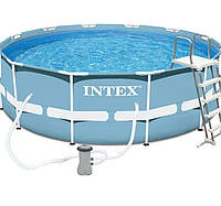 Каркасный бассейн 28718 366*98 см с лестницей и фильтр насосом intex hn KK