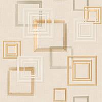 Обои бумажные, квадраты, светлый, рисунок,  Джем 1256, 0,53*10м