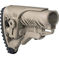 Приклад FAB Defense для М16/AR15 с регул. щекой ц:desert tan (coyote tan) + сертификат на 150 грн в подарок (код 186-287075)