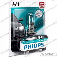 Лампа галогенная Philips H1 X-treme VISION +130 3700K 12258XVB1