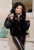 Женская шуба из искусственного меха больших размеров 9999ЛК