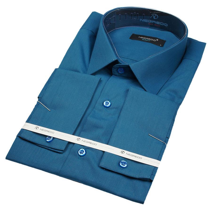 Рубашка мужская однотонная  Negredo 01069 Slim