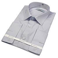 Рубашка мужская приталенная светло-серая Negredo 31000 Slim