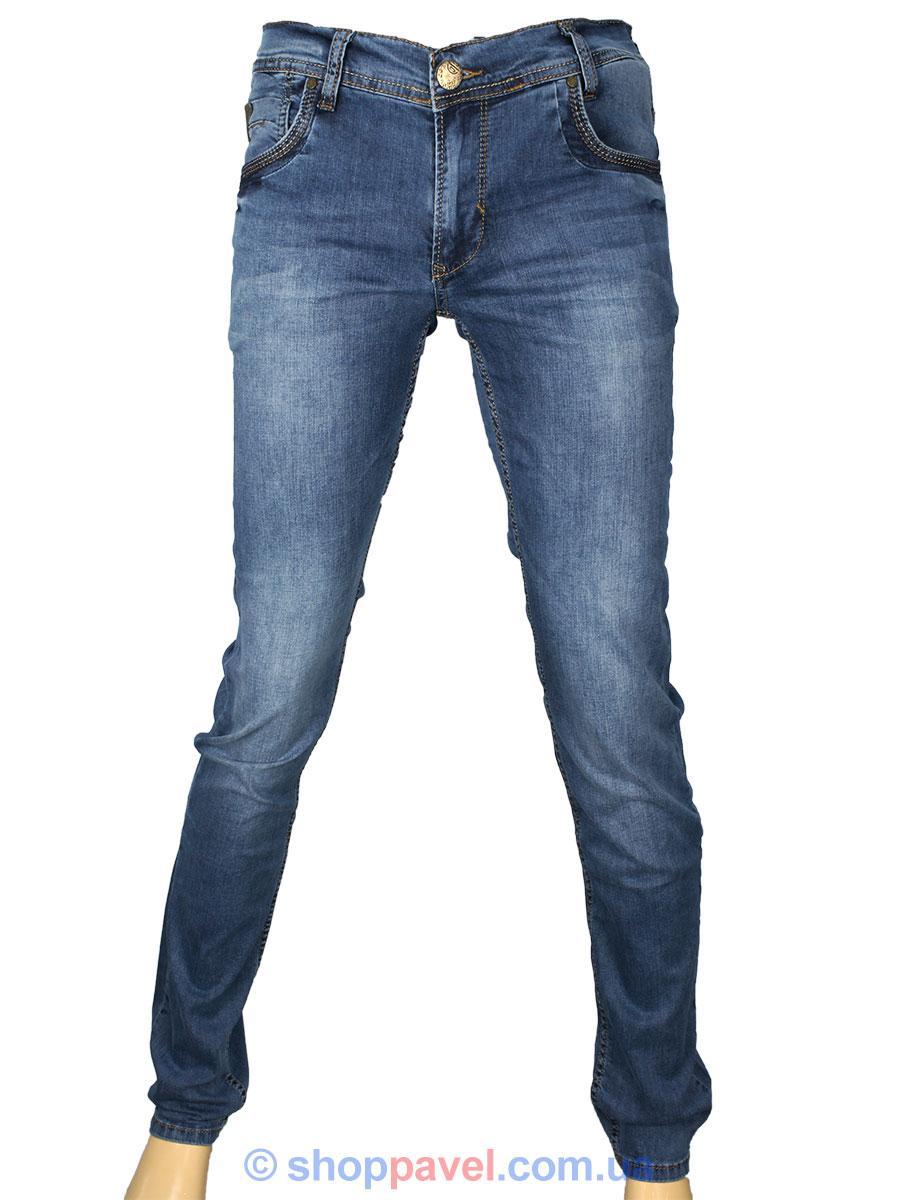Мужские стрейчевые зауженные джинсы Cen-cor CNC-9246