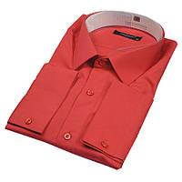 Красная мужская рубашка Negredo 26127 Slim
