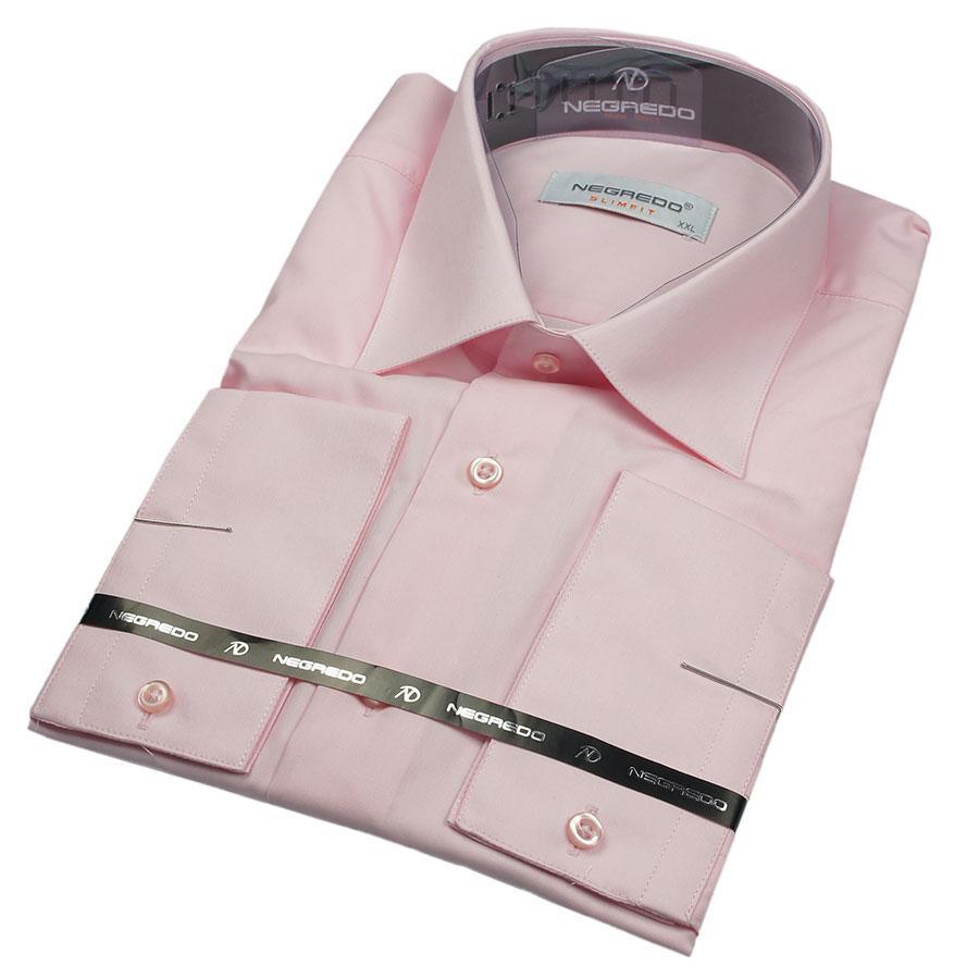 Мужская рубашка Negredo 26053 Slim в розовом цвете
