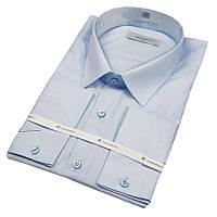 Рубашка мужская Negredo 31016 Slim однотонная голубая