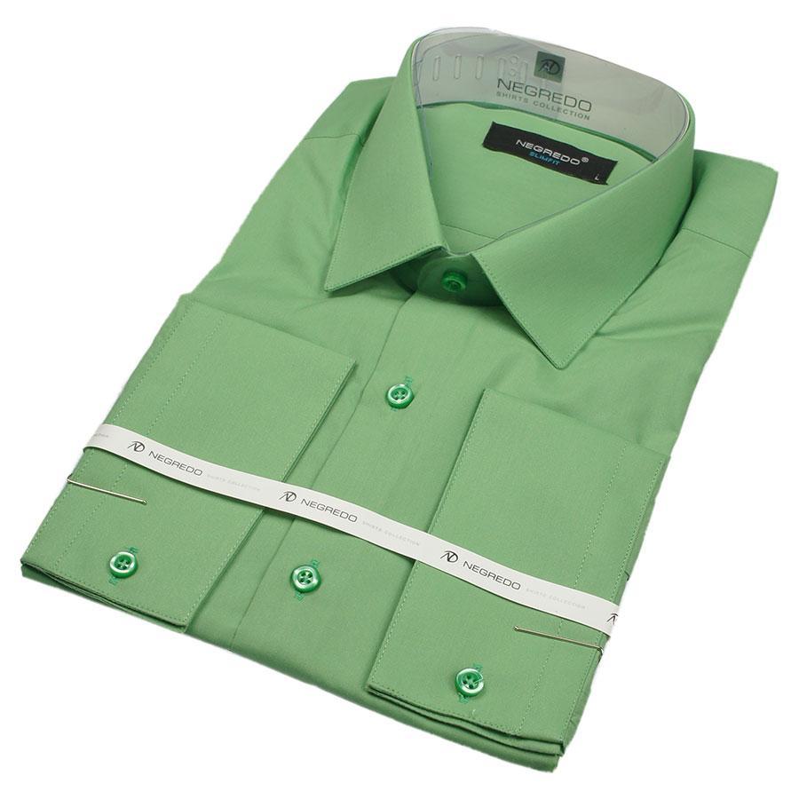 Рубашка мужская в яблочном цвете Negredo 27172 Slim