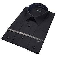 Рубашка мужская черная приталенная Negredo Black Slim