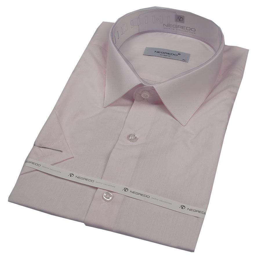 Мужская рубашка в светло-розовом цвете Negredo 26053 Slim