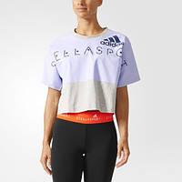Укороченная женская футболка adidas STELLASPORT AZ7777 - 2017