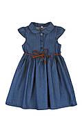 Джинсовое платье с тонким ремешком для девочки