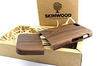 Деревянный раскладной чехол Американский орех для iPhone 6/6S