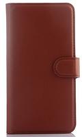 Кожаный чехол-книжка для Meizu M2 Note коричневый