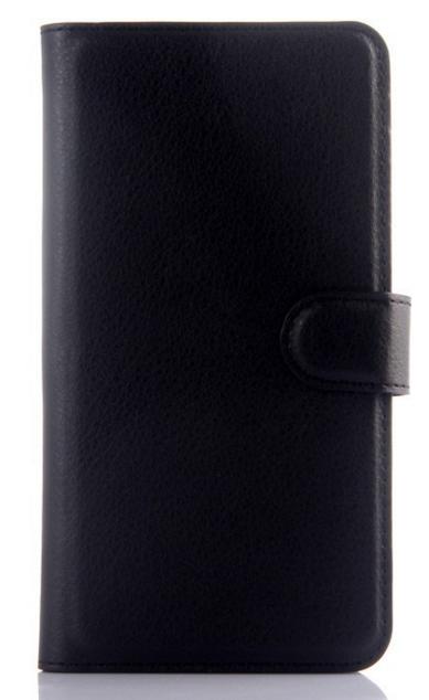 Кожаный чехол-книжка для Meizu M2 Note черный