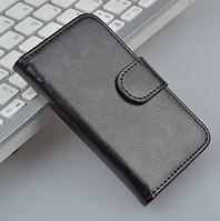 Кожаный чехол-книжка для Samsung Galaxy S3 mini i8190 черный