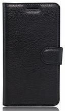 Кожаный чехол-книжка для Meizu M3 Note черный