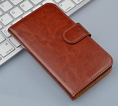 Кожаный чехол-книжка для Samsung Galaxy S3 mini i8190 коричневый