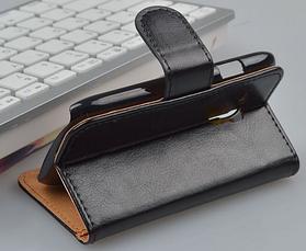 Кожаный чехол-книжка для Samsung Galaxy S3 mini i8190 коричневый, фото 3