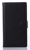 Стильный чехол-книжка для Lenovo k920 vibe z2 черный