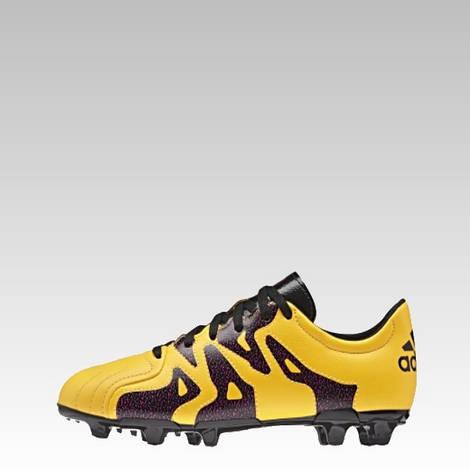 Детские футбольные бутсы adidas x 15.3 fg ag j leather (артикул  S32061) b177128c676