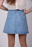 Женская джинсовая модная юбка
