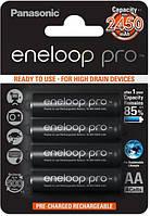 Аккумуляторы Panasonic Eneloop Pro AA (R6) 2550 mAh NiMh 4шт (BK-3HCDE/4BE),1.2V